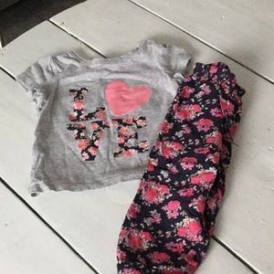 Baby girls matching outfit